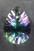 Diffusion-treated Mystic Quartz, faceted.  33.95 carats.